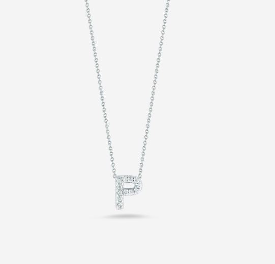 "LOVE LETTER ""P"" DIAMOND PENDANT"