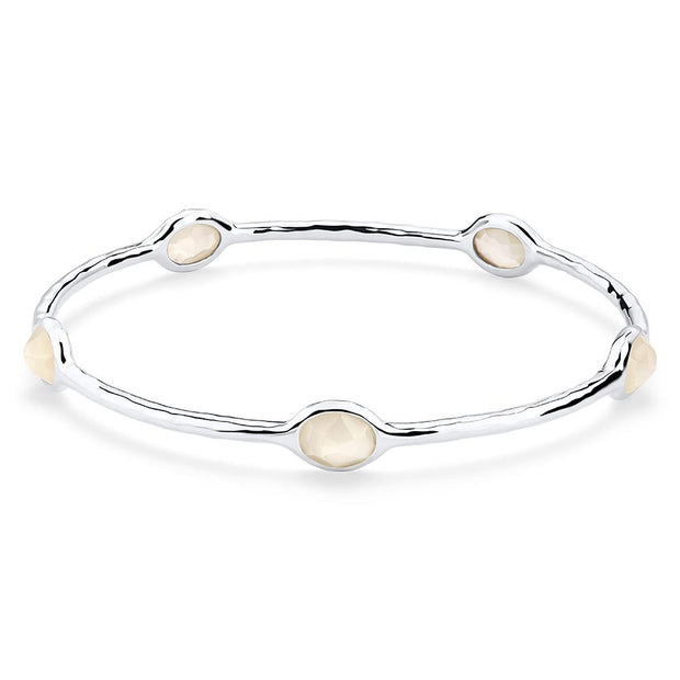 Sterling Silver Rock Candy® 5-Stone Bangle in Mother-of-PearlDoublet