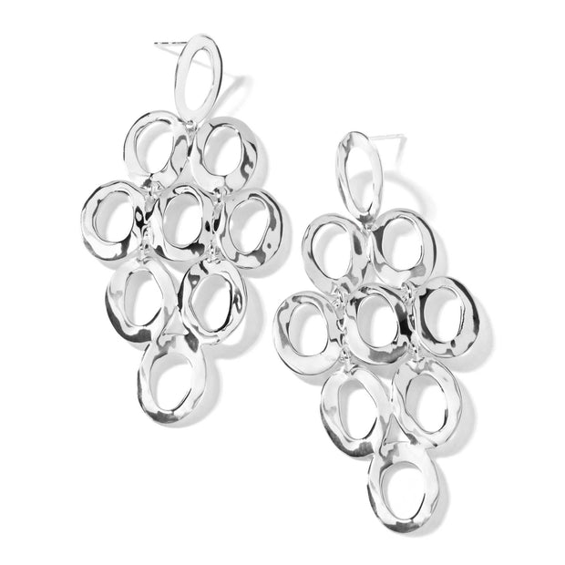Sterling Silver Classico Open Cascade Earrings