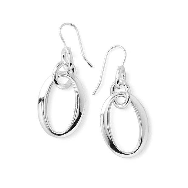 Sterling Classico Short Oval Link Earrings