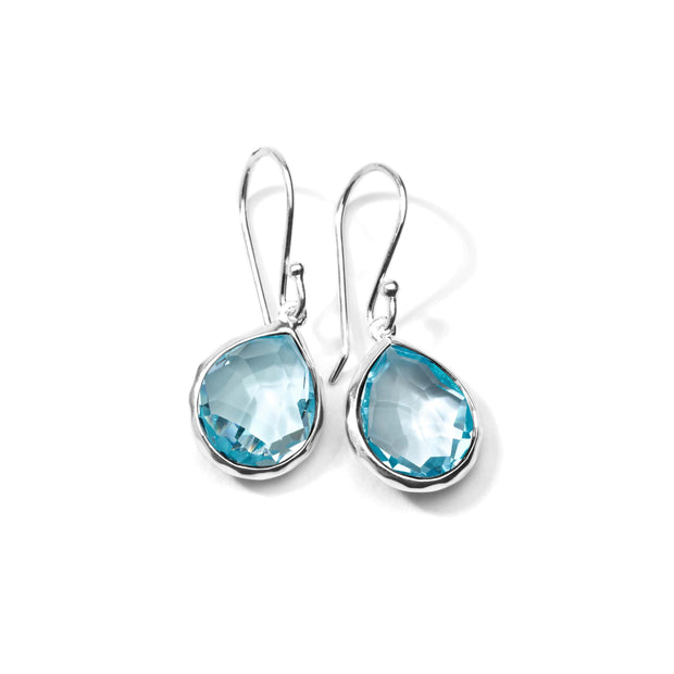 Sterling Silver Rock Candy® Mini Teardrop Earrings in Blue Topaz