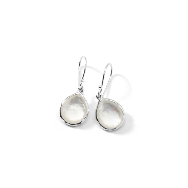 Sterling Silver Rock Candy® Mini Teardrop Earrings in Mother-of-Pearl Doublet
