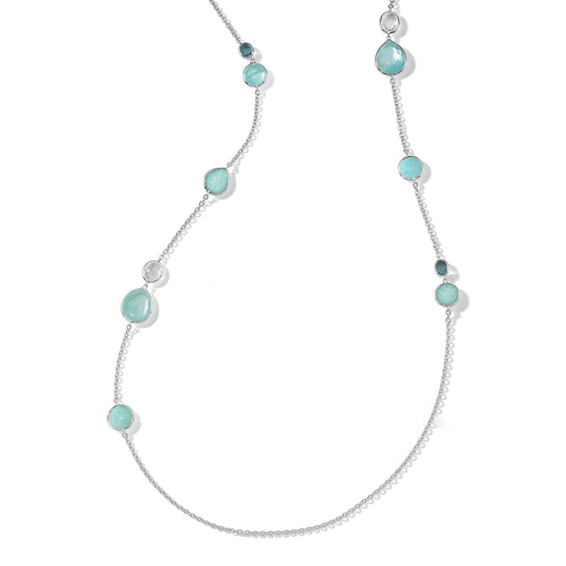 Sterling Silver Rock Candy® Mixed Stone Long Necklace in Waterfall 40""