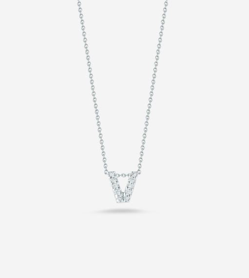 "LOVE LETTER ""V"" DIAMOND PENDANT"