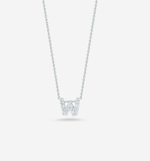 "LOVE LETTER ""W"" DIAMOND PENDANT"