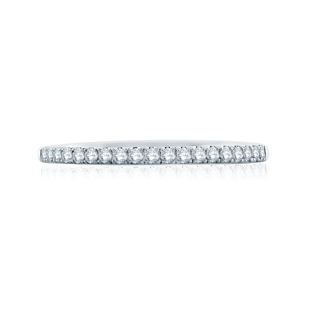 Delicate Signature Shank Diamond Wedding Band