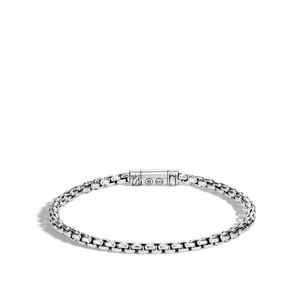 Classic Chain 4MM Box Chain Bracelet in Silver