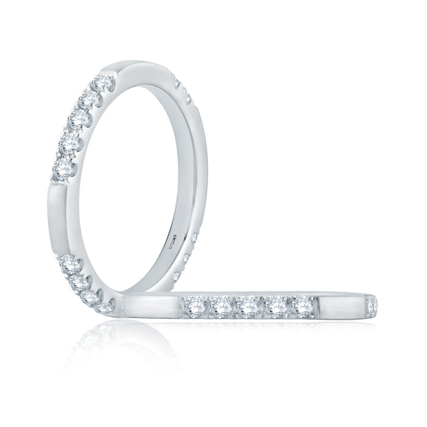 Segmented Diamond Band Ring