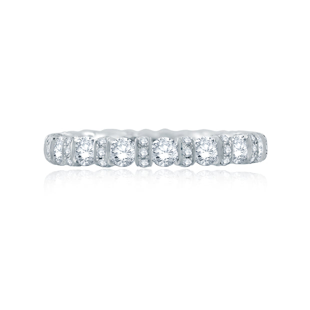 Diamond Collar Accent Eternity Anniversary Band