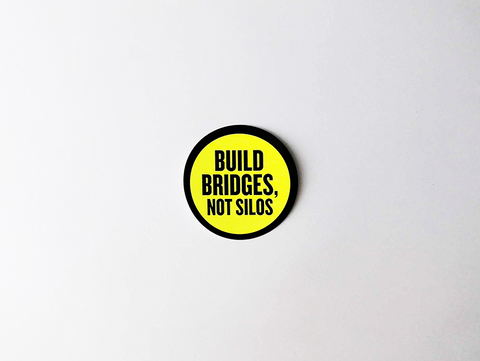 "Sticker set ""Build bridges, not silos"""