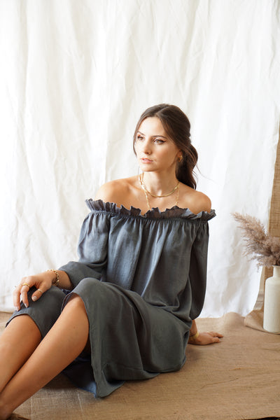 Livid Off Shoulder Midi Dress