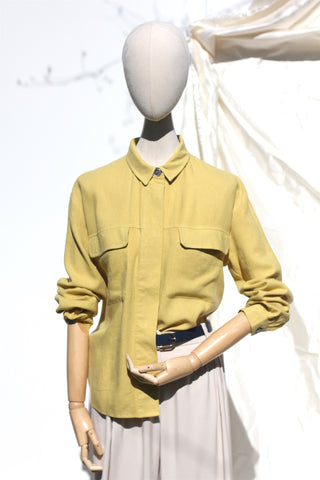 Yellow Shirt with Pockets