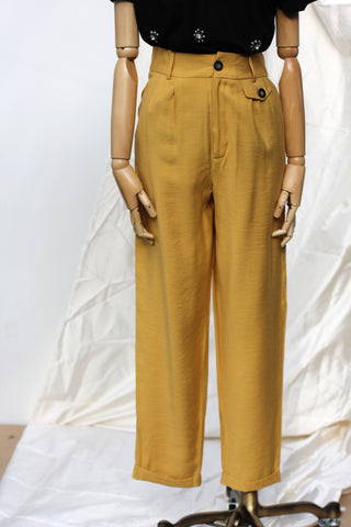 Mustard Yellow Trouser