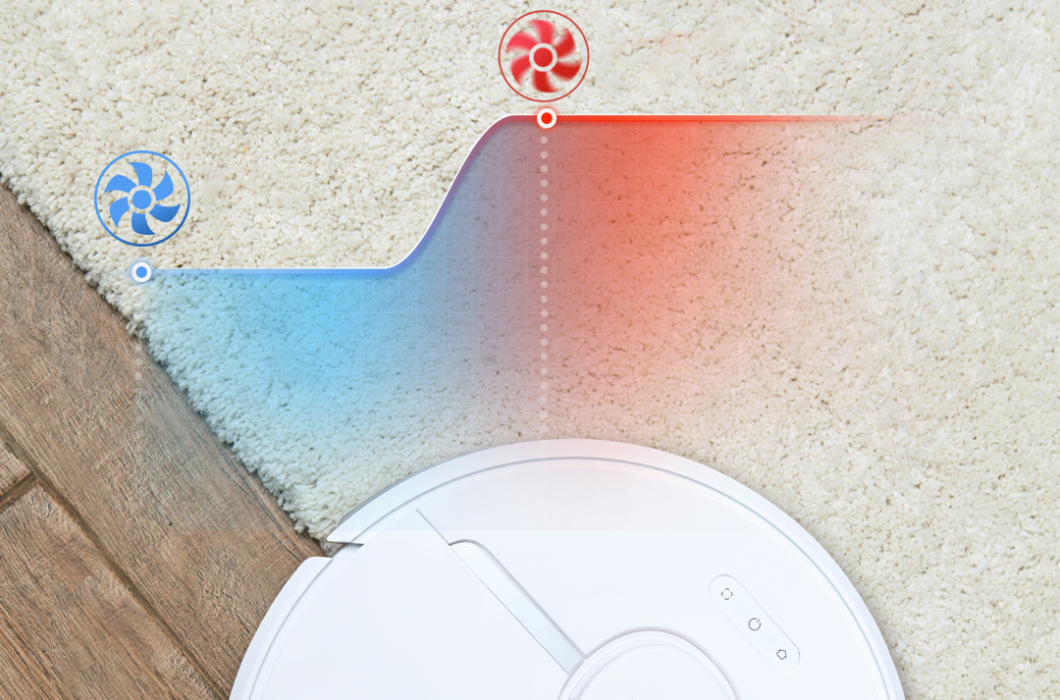 Dreame D9 can auto pressure boosting on carpets