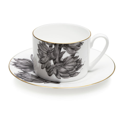 Banana Plant Exotic Coffee and Tea Cup & Saucer