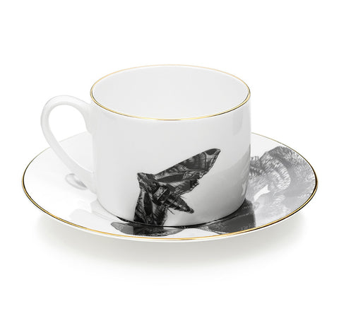 Iris & Butterfly Coffee and Tea Cup & Saucer