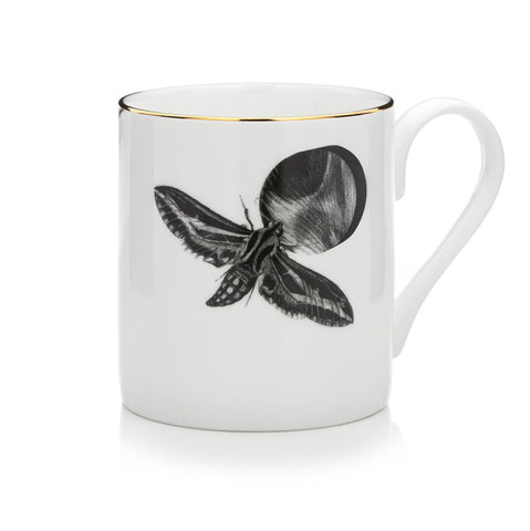 Exotic Palm Plant and Butterfly Mug