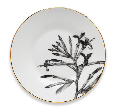 Floral illustration saucer