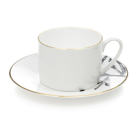 Horse & Pearls Teacup & saucer