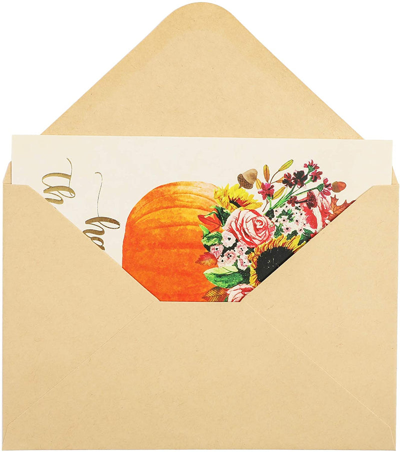 Blank Thanksgiving Holiday Greeting Cards, Bulk (4 x 6 In, 60 Pack)