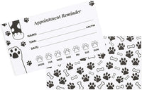 Appointment Reminder Cards, Vet Office Supplies (3.5 x 2 In,
