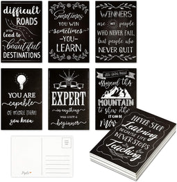 Motivational Postcards, 20 Designs (4 x 6 in, 40 Pack)