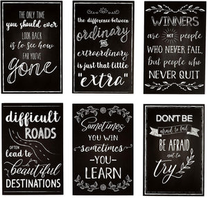 Motivational Postcards, 20 Designs (4 x 6 in, 40-Pack)