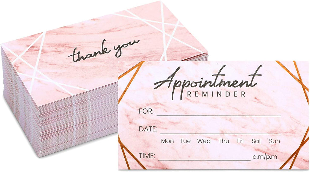 Appointment Reminder Cards (2 x 3.5 In, 100 Pack)