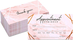 Appointment Reminder Cards with Rose Gold Foil (3.5 x 2 In, 100 Pack)