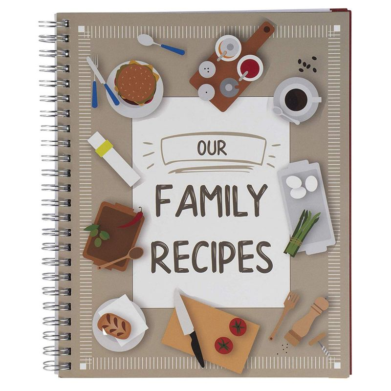Family Recipe Notebook Journal for Recording Family Treasured Recipes, 6.5x8.2