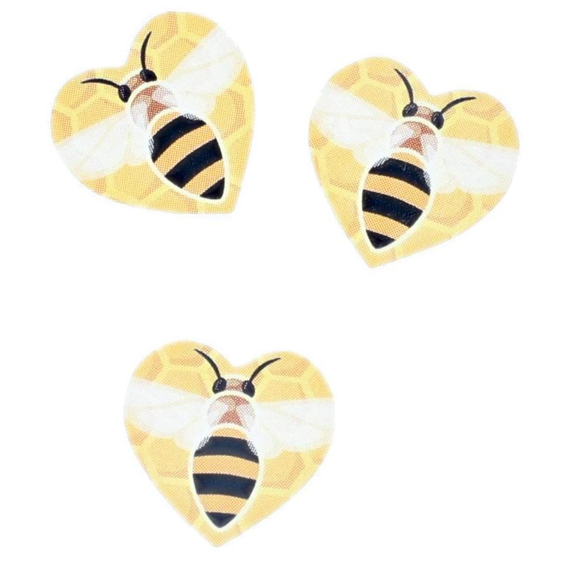 1050x Heart Shaped Bee Stickers for Kids, Party Favor Bags, Scrapbook, 1 inch
