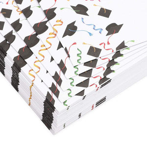 Stationery Paper and Envelopes Set, Graduation Party Supplies (8.5 x 11 in, 48-Pack)