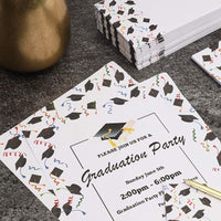 48x Graduation Stationery Paper with Envelopes Set for Writing Letters 8.5 x 11""