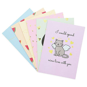 12x Cute Valentine's Day Greeting Cards with Puns and Envelopes for Kids  5 x 7""