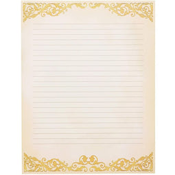 Vintage Lined Stationery Paper (8.5 x 11 In, 48 Sheets)