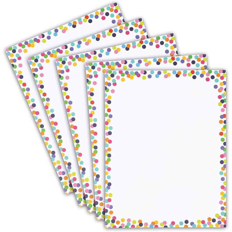 "96-Sheet Colorful Confetti Dots Stationery Paper for Note & Invitation, 8.5""x11"""
