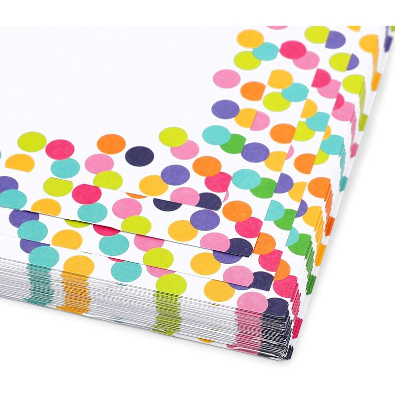 Confetti Stationery Paper (8.5 x 11 Inches, 96 Sheets)