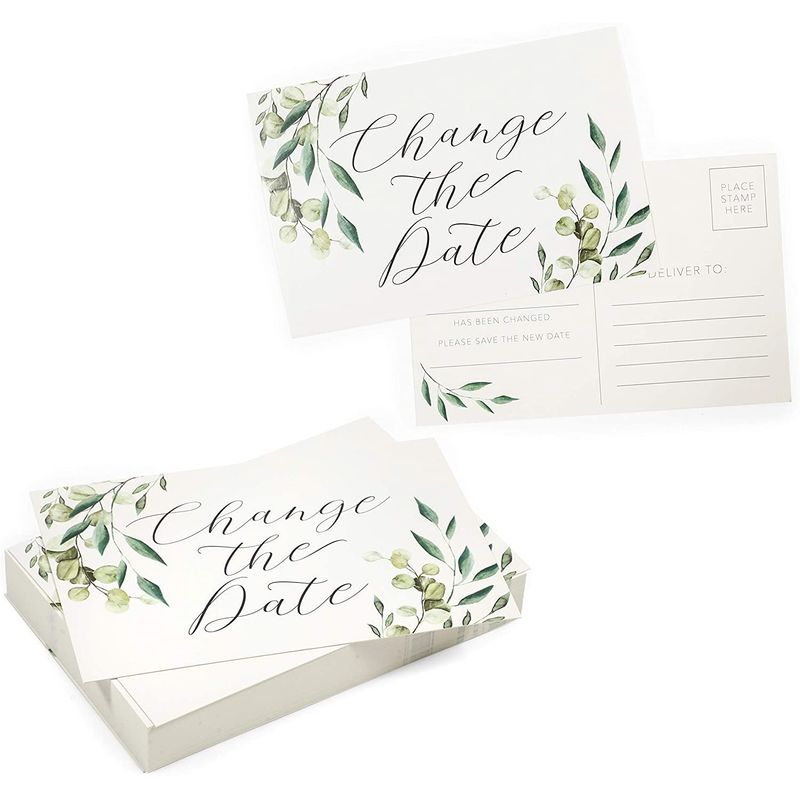 Change The Date Cards, Postponed Announcement Card (4 x 6 in