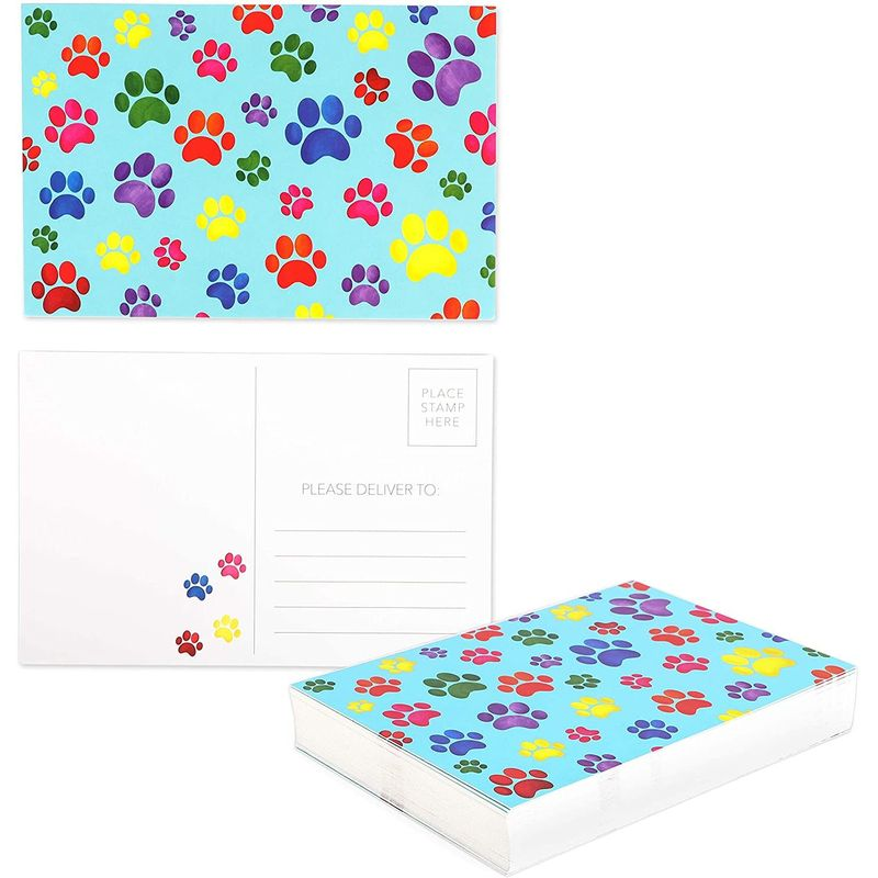 Blank Postcards, Paw Print (4 x 6 In, 48-Pack)