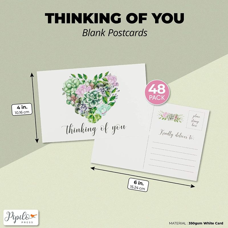 Blank Postcards, Thinking Of You (4 x 6 In, 48-Pack)