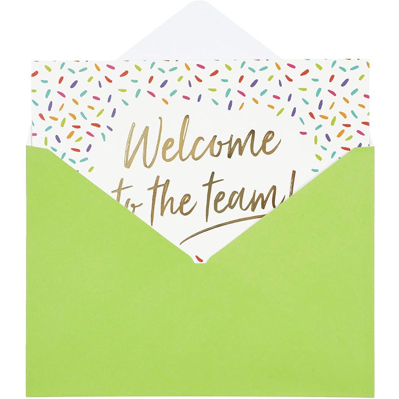 Blank Greeting Cards Set with Gold Foil, Welcome To The Team (7 x 5 In, 36 Pack)
