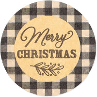 Merry Christmas Stickers (1.5 in, 500 Pieces)