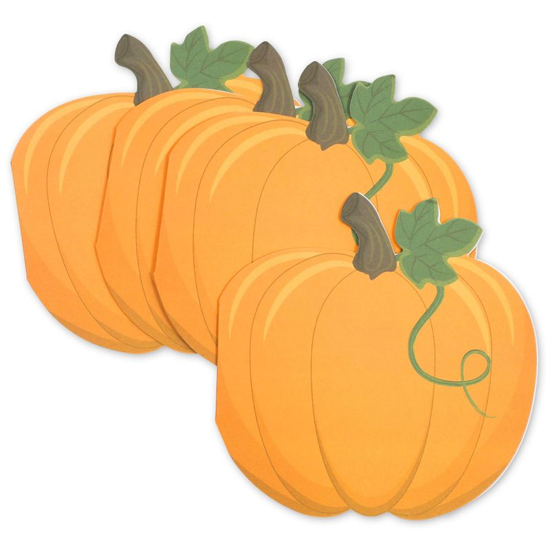 Pumpkin Shaped Notecards and Gold Foil Envelopes (4.75 x 4.7