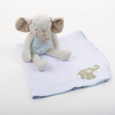 Lifestyle image of our Elephant Stitch Blanket