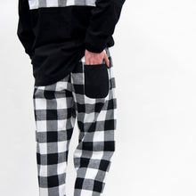 Load image into Gallery viewer, Back view of our Buffalo Check Lounge Pants
