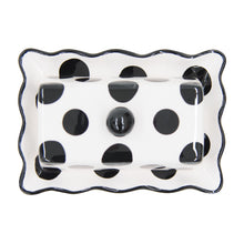 Load image into Gallery viewer, BLACK DOT BUTTER DISH