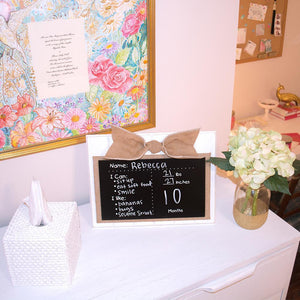 All About Baby Chalkboard