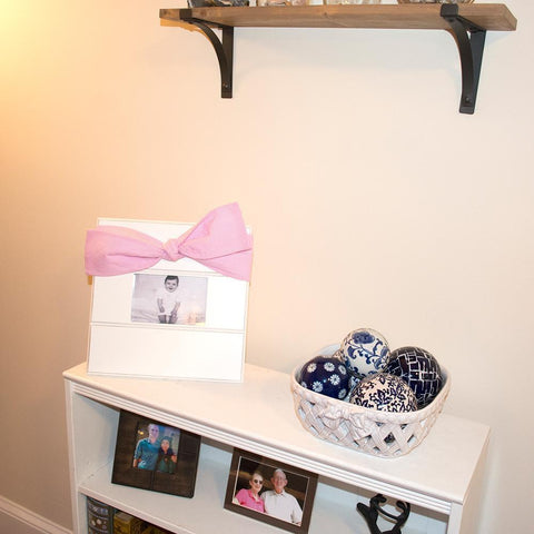 Baby Gingham Bow Frames