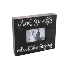 "Load image into Gallery viewer, ""And So The Adventure Begins"" Bridal Box Frame"