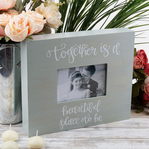"""And So The Adventure Begins"" Bridal Box Frame"